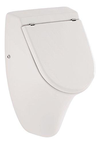 Urinal Set jaDe | Mit Deckel | Weiß |  Inklusive Zubehör | Zulauf und Ablauf hinten